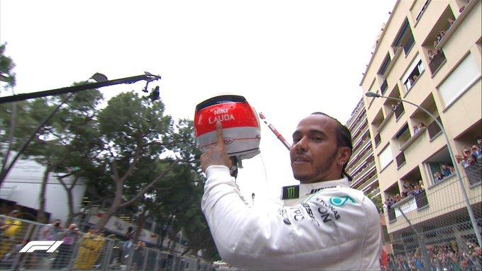 Lewis Hamilton honró la memoria de Niki Lauda con una victoria en Mónaco
