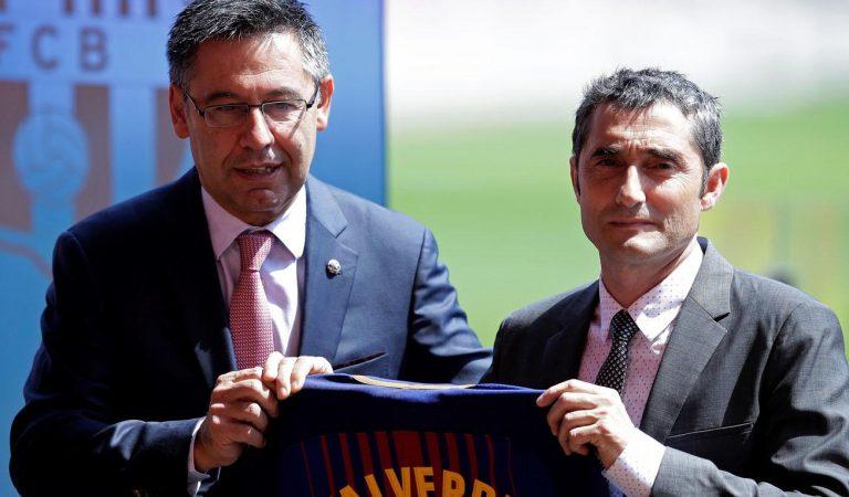 Josep María Bartomeu tiene confianza absoluta en Ernesto Valverde