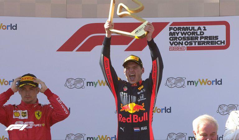Max Verstappen sorprende al ganar el Gran Premio de Austria