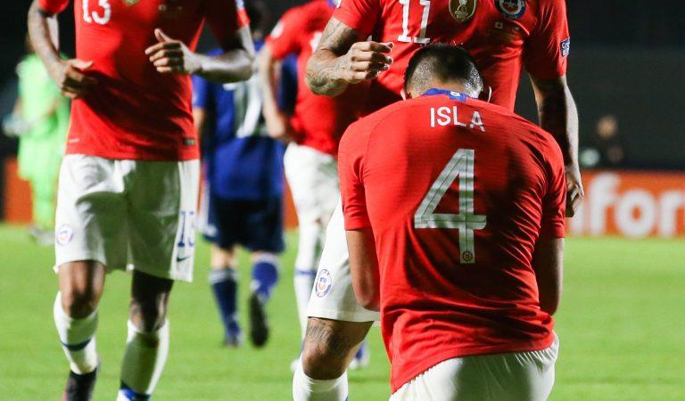Chile sin piedad ante Japón tras golearlo en la Copa América