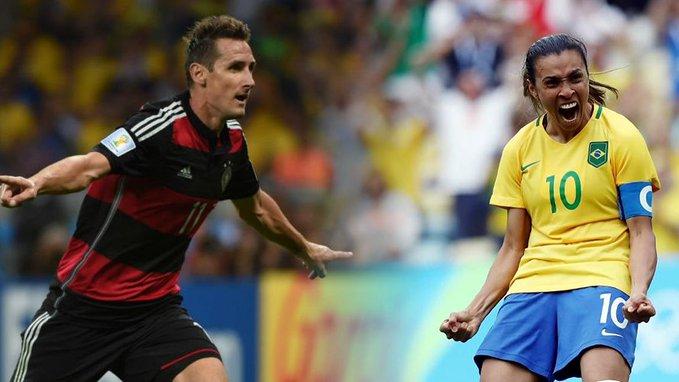 Los dos máximos goleadores en Copas del Mundo