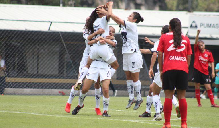 Pumas Femenil arranca con el pie derecho ante Tijuana