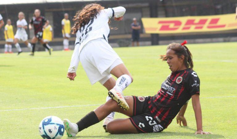 Pumas Femenil  sigue sin ganar y empata ante Veracruz