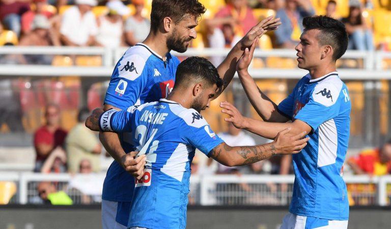 Lozano, presente en el triunfo del Napoli; Jiménez y Edson Álvarez titulares en el empate de sus equipos