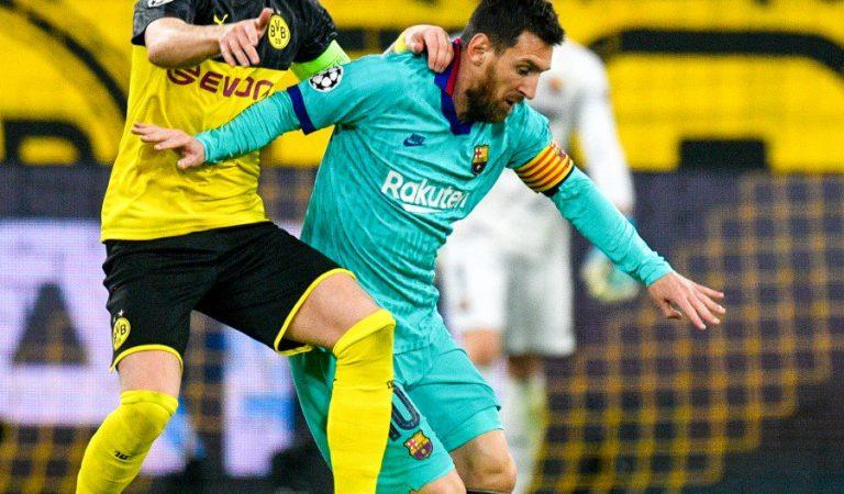 Borussia Dortmund y Barcelona empataron en su debut en la Champions League