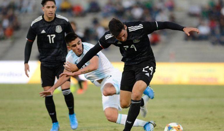 Empate entre México y Argentina Sub-22