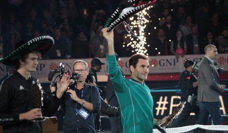 Roger Federer vence a Alexander Zverev y promete regresar a México