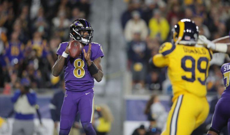 Baltimore confirma su buen momento y aplasta a Los Ángeles Rams