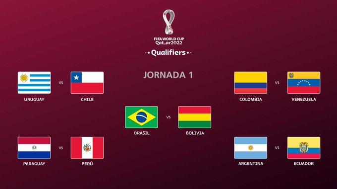 Revelan calendario de eliminatorias de CONMEBOL rumbo a Qatar 2022