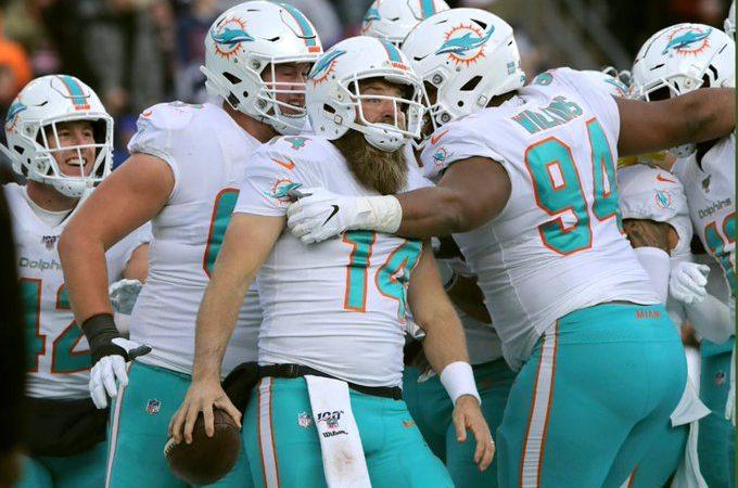 Delfines dio el campanazo de la última semana regular en la NFL a costa de los Patriotas