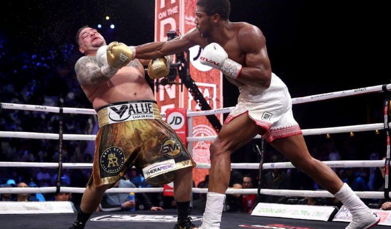 Andy Ruiz fue vencido en la revancha contra Anthony Joshua
