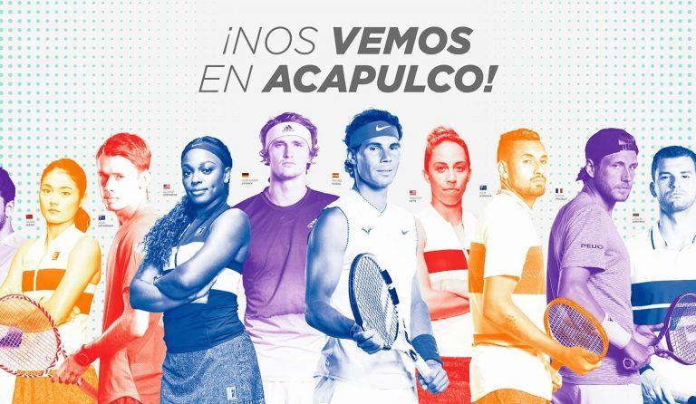 El Abierto Mexicano de Tenis 2020 contará con grandes estrellas
