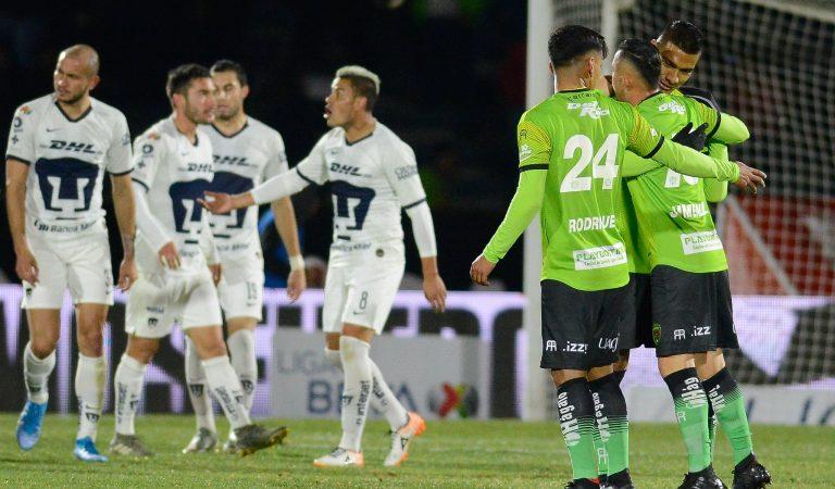 Empate lleno de goles entre Bravos y Pumas en jueves por la noche