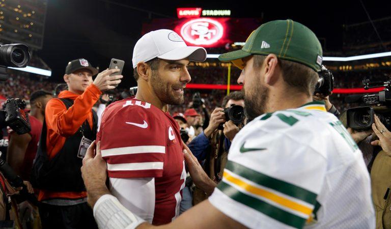 Jimmy Garoppolo VS Aaron Rodgers: ¿Quién ganará el duelo por la NFC?