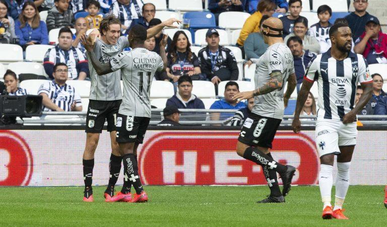 El Querétaro sorprendió en Monterrey; León y Necaxa también ganaron