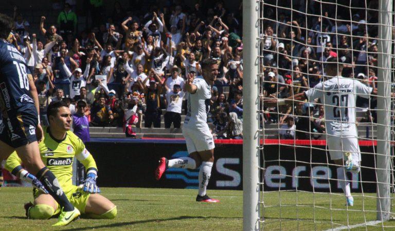 Pumas goleó a Atlético de San Luis en Ciudad Universitaria