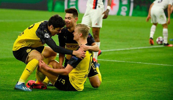Erling Haaland le dio la victoria al Borussia Dortmund sobre el París Saint-Germain