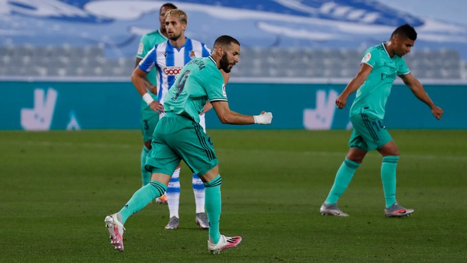 El Real Madrid gana y le empata al Barcelona en el liderato de España