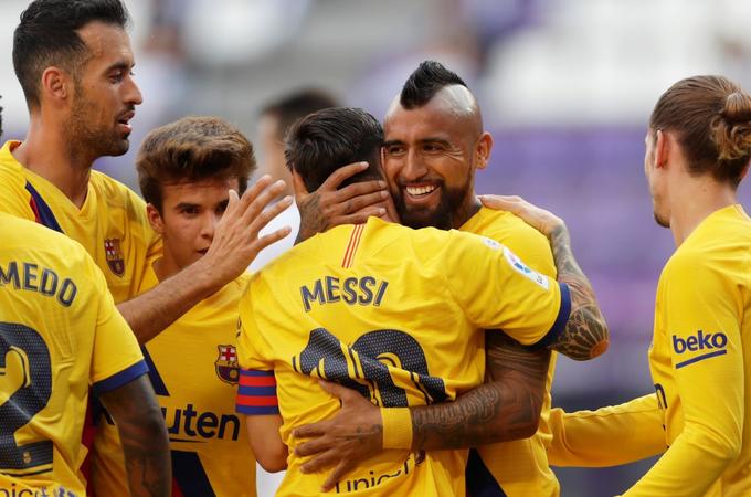 Barcelona sufre para vencer a Valladolid