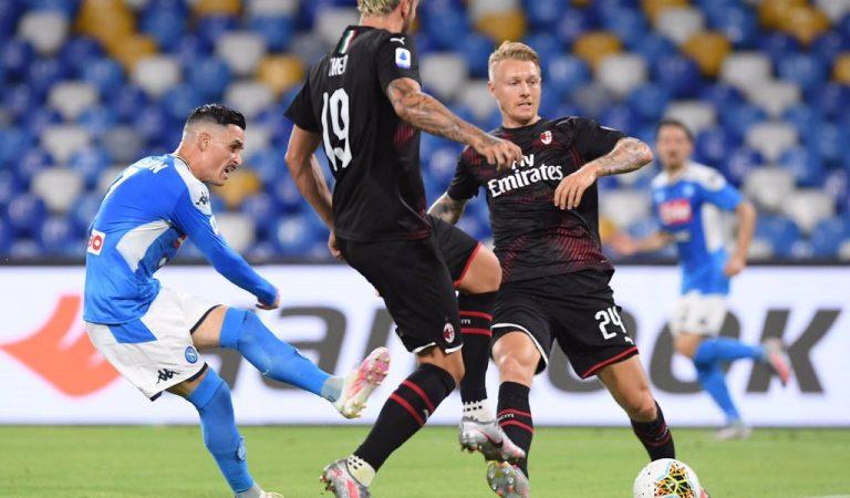 Napoli, con Lozano en la cancha, igualó ante Milán