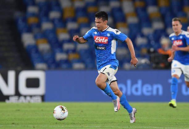 """El """"Chucky"""" Hirving Lozano, presente en la victoria del Napoli sobre La Roma"""