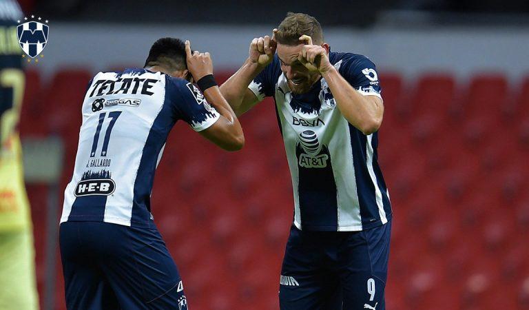 Monterrey impone autoridad en el Estadio Azteca sobre el América