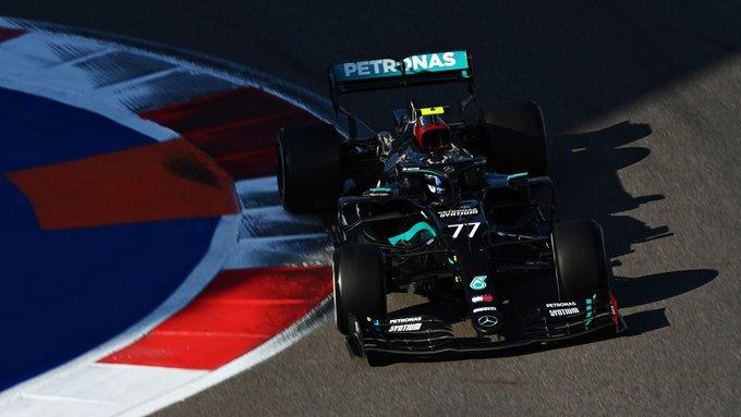 """Valtteri Bottas se llevó el GP de Rusia ; """"Checo"""" Pérez se quedó a un lugar de subir al podio"""
