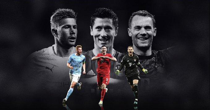 De Bruyne, Lewandowski y Neuer, entre los mejores de la UEFA
