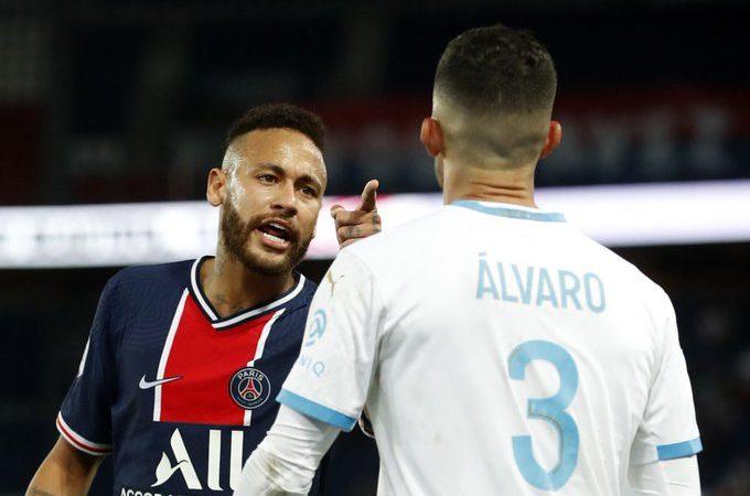 Neymar acusó de racista a Álvaro González en el Clásico de Francia