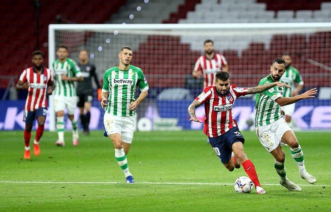 Victoria contundente del Atlético de Madrid sobre el Betis en el Wanda Metropolitano