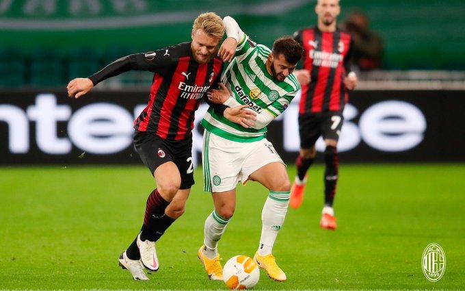 Milán regresa a Europa League y gana en su debut ante Celtic