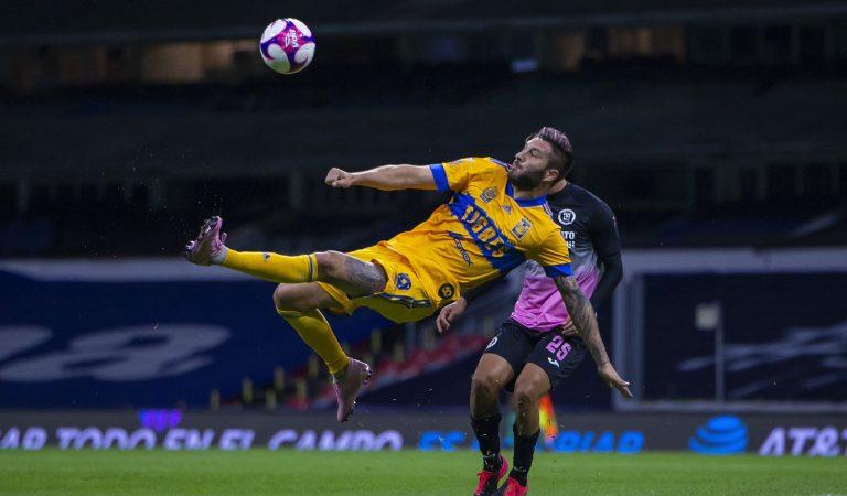 Tigres le propina a Cruz Azul su segunda derrota consecutiva en el Guard1anes 2020