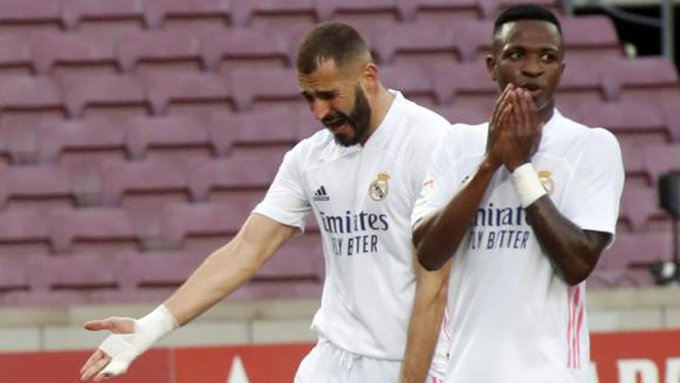 """Zinedine Zidane aclaró el """"conflicto"""" entre Karim Benzema y Vinícius Jr."""