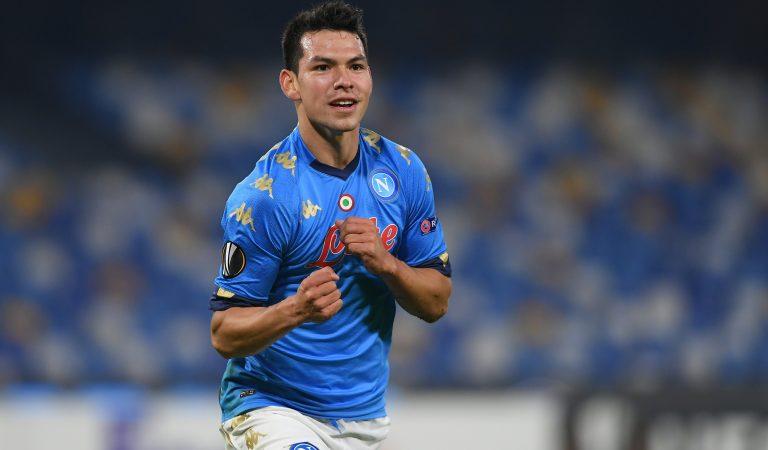 Hirving Lozano anota en el triunfo de Napoli en la Europa League