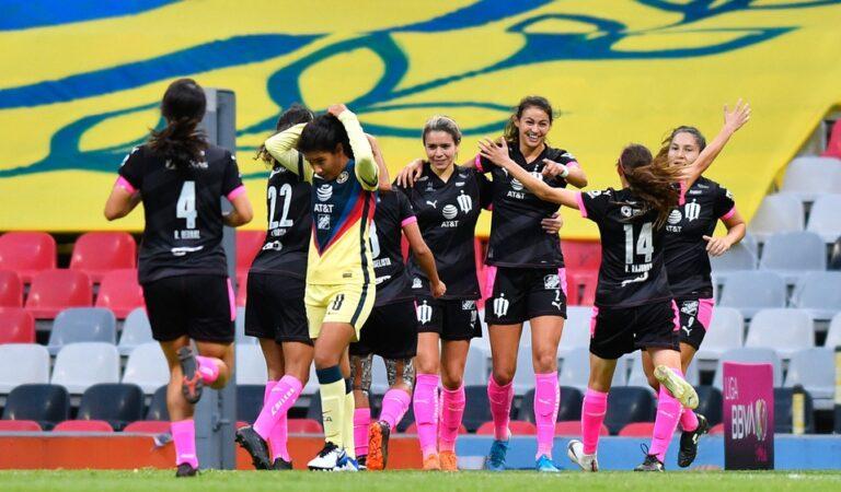 Rayadas golpea con goleada al América Femenil en la ida de las semifinales