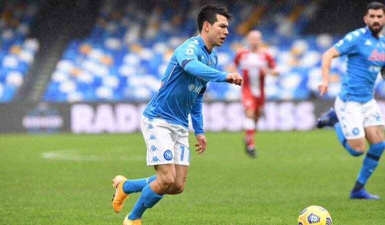 Napoli aplasta a la Fiorentina con gran actuación de Hirving Lozano
