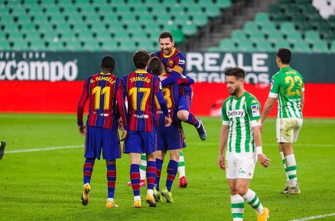 Barcelona le dio la vuelta al marcador y venció al Betis