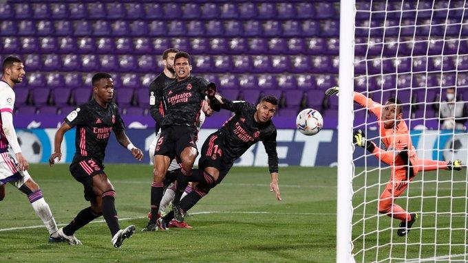 Sufrida victoria del Real Madrid sobre el Real Valladolid