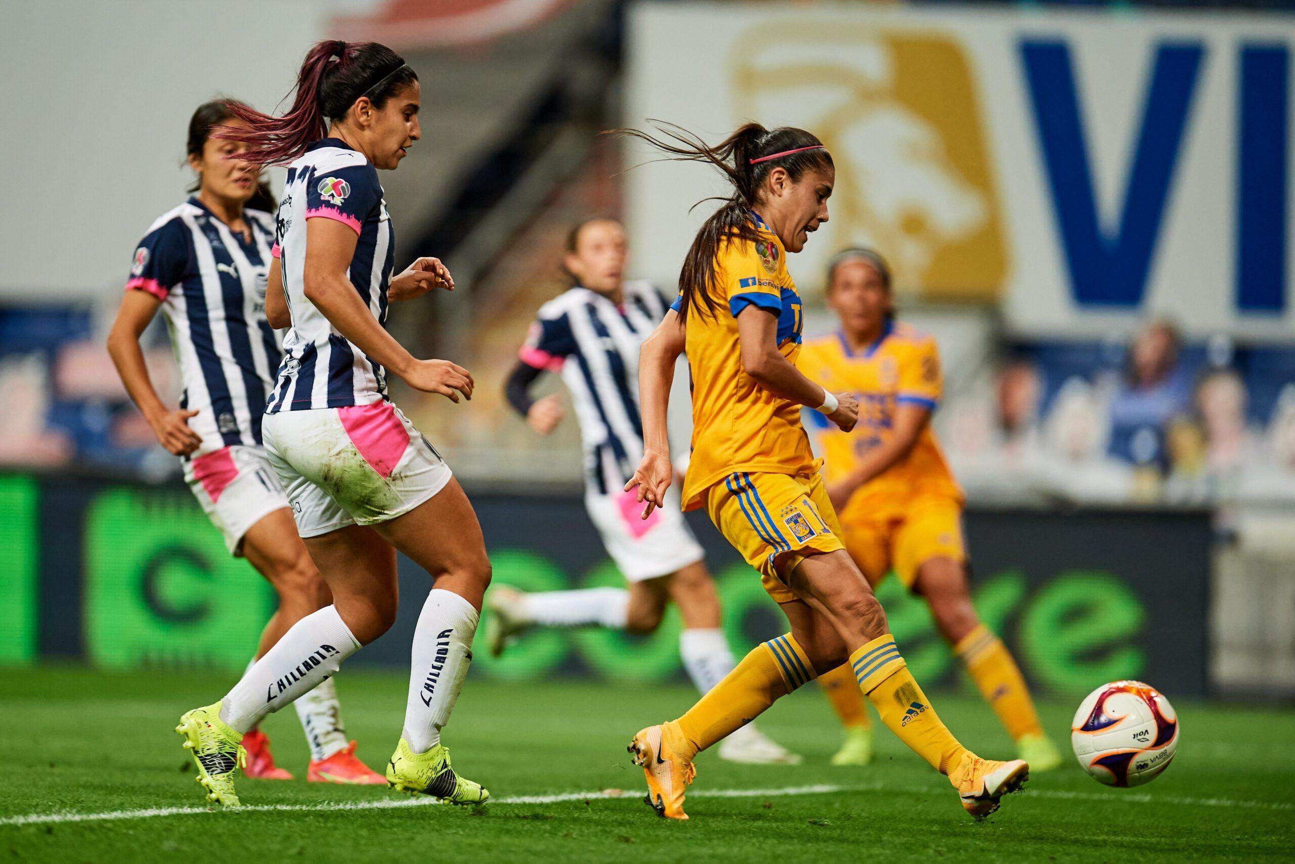 Rayadas y Tigres Femenil entregan emocionante empate en el Clásico Regiomontano