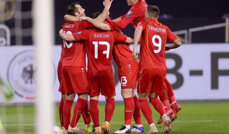 Macedonia del Norte dio la sorpresa en las eliminatorias mundialistas a Qatar tras derrotar a Alemania