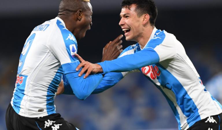 El Napoli goleó a la Lazio en casa en la recta final de la Serie A por puestos de Europa