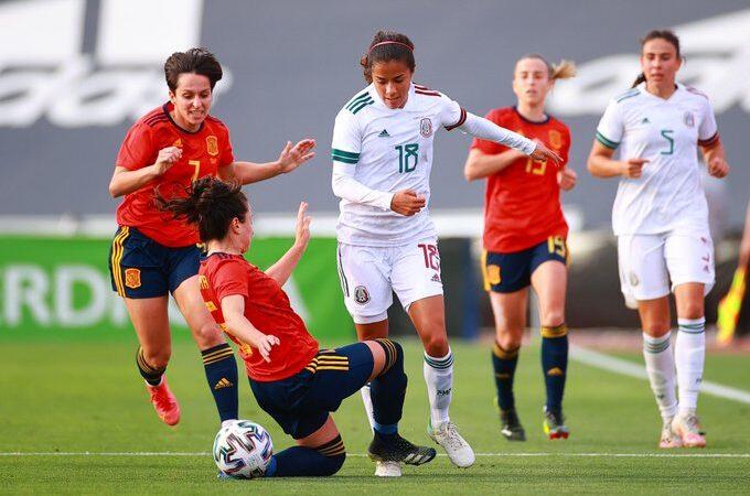 La Selección Mexicana Femenil pierde el paso invicto ante la Selección de España