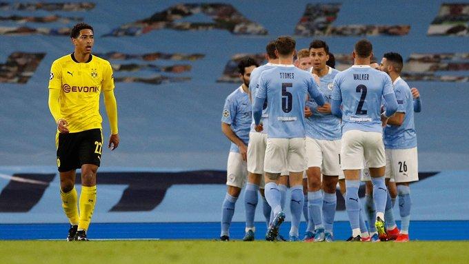 Manchester City, con ventaja para la vuelta sobre Borussia Dortmund en Champions League