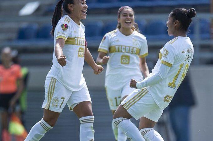 Tigres Femenil, con un pie en la semifinal de la Liga MX Femenil tras golear a América