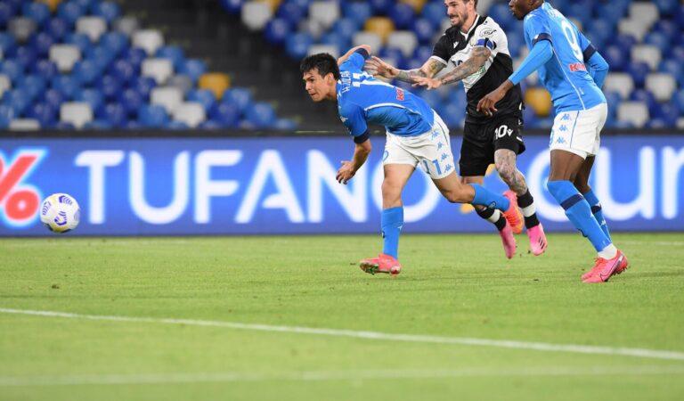Hirving Lozano volvió a marcar gol en el triunfo de Napoli sobre Udinese