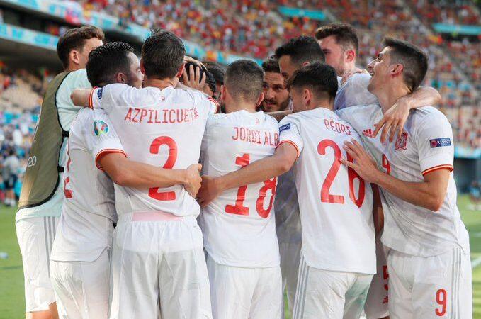 España golea a Eslovaquia y clasifica a los octavos de final de la Eurocopa 2020