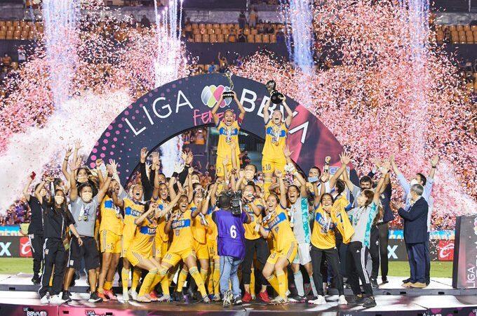 Tigres se consagran como bicampeonas de la Liga MX Femenil al derrotar a Chivas
