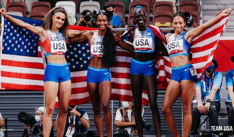 Estados Unidos conquista los relevos 4x400m en mujeres y hombres de Tokyo 2020