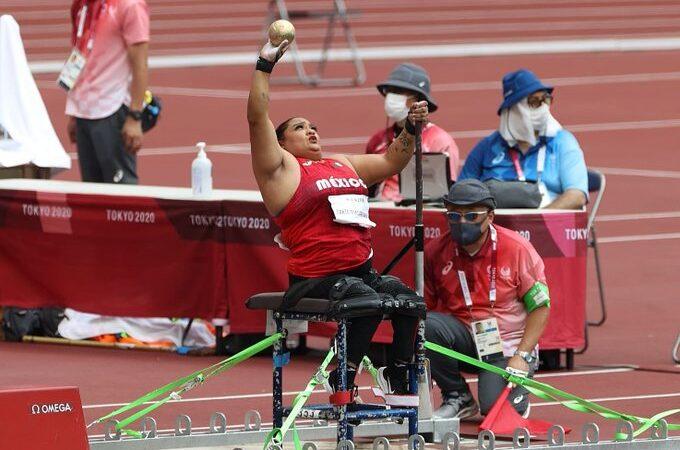 Gloria Zarza se bañó de gloria al conseguir la plata en lanzamiento de bala en los Paralímpicos Tokio 2020
