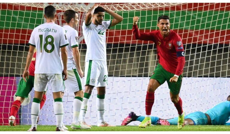 Cristiano Ronaldo con doblete da la victoria a Portugal sobre Irlanda y rompe otra marca histórica